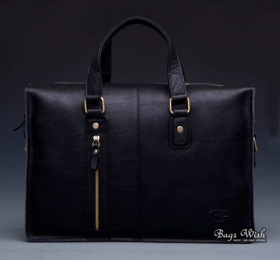 f26a361c0b46 ... black Briefcase for men leather