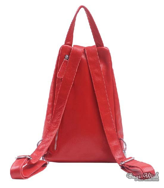 Leather backpack for women, ladies leather backpack purse - BagsWish