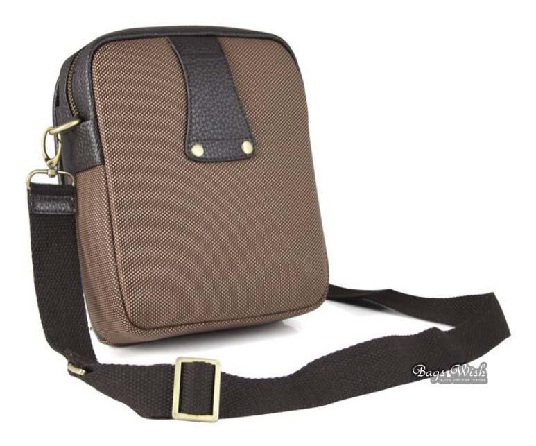 Side messenger bag, coffee waist pack for men - BagsWish