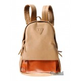 Ladies leather backpack, PU leather backpack for school