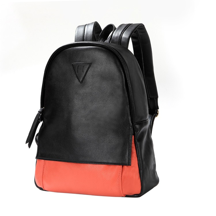 Ladies leather backpack, PU leather backpack for school - BagsWish