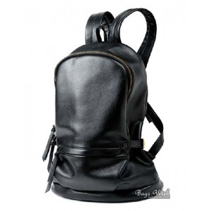Leather backpacks purse, brown PU leather book bag