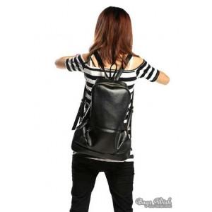 black Leather backpacks purse