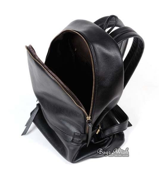 Leather backpacks purse, brown PU leather book bag - BagsWish
