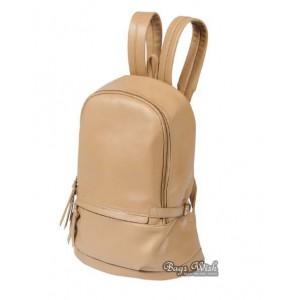 khaki Leather backpacks purse