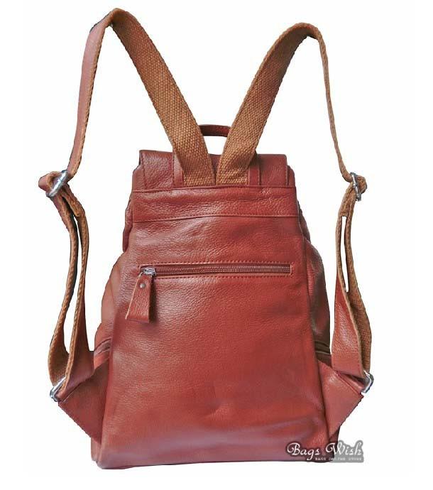 School bags messenger girl - Cowhide Leather Backpack Women Brown Leather Bookbag Bagswish
