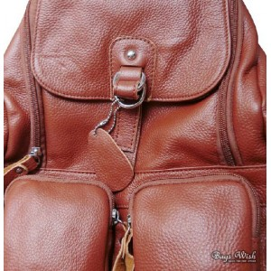 cowhide leather bookbag