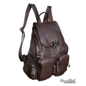 coffee leather bookbag