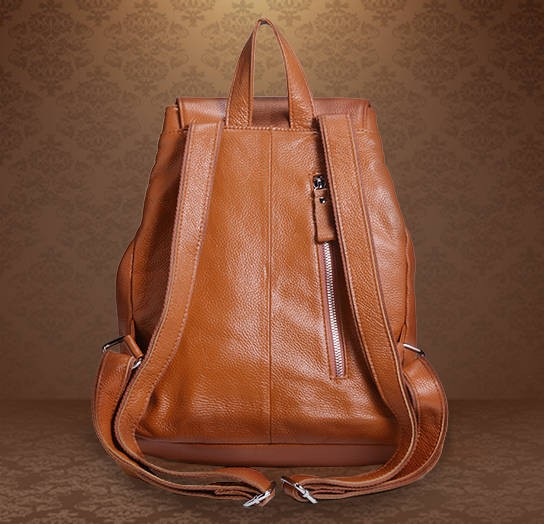 Leather Ladies Backpack Brown Leather Rucksack Backpack