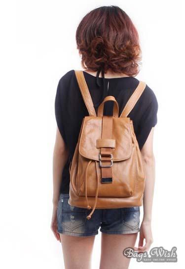 ... brown Leather ladies backpack  ladies backpack  rucksack backpack ... 8b037feb5