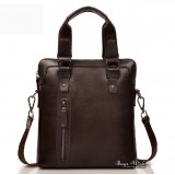 Leather bag for men brown