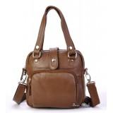 School messenger bag brown, shoulder handbag