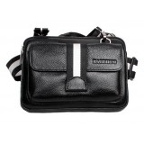 Cowhide travel waist pack black
