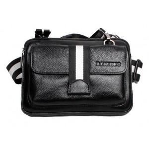 Cowhide travel waist pack black, brown waist bag fanny pack