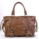 Leather satchel handbag brown, black leather tote bag
