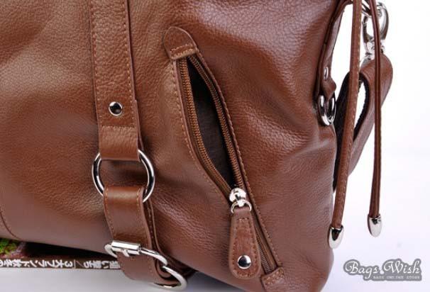 Satchel Handbag Cowhide Leather Tote Bag
