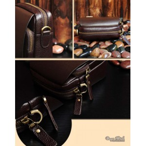 coffee small leather shoulder bag