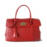 Red leather handbag, soft leather handbag