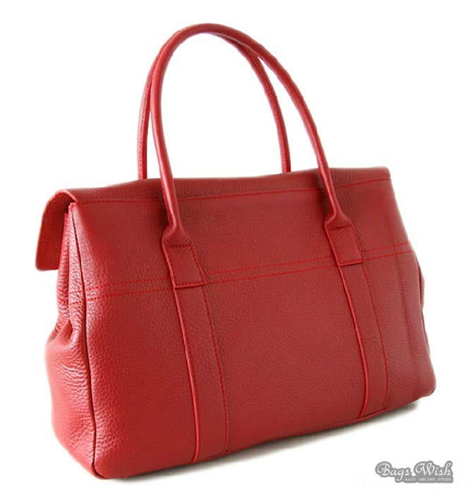 Red Leather Handbag Soft