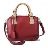 Genuine leather handbag, cute messenger bag