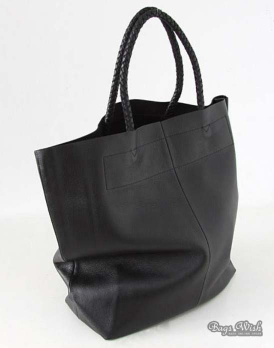 Original Lorenz Large Black Leather Handbag