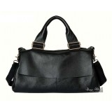 Leather organizer handbag, leather large handbag