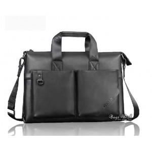 Cowhide laptop bag briefcase black, 14 inch laptop bag coffee