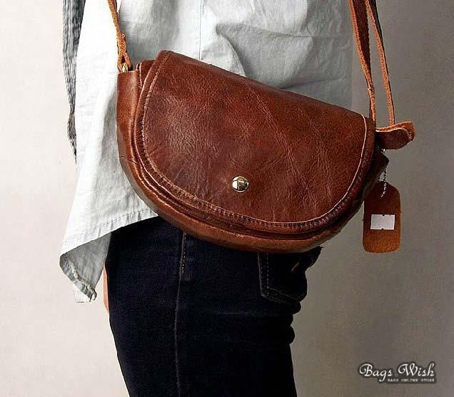 Cheap leather messenger bag, coffee cool messenger bag - BagsWish