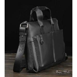 Cowhide laptop bag briefcase