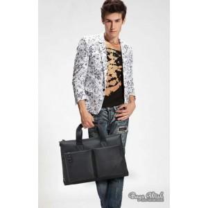 mens Cowhide laptop bag briefcase