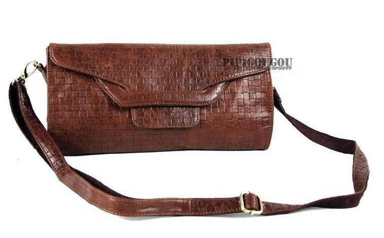 Ladies leather wallet, coffee leather bag for women - BagsWish