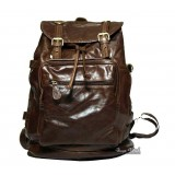 Vintage backpack coffee, grey soft leather backpack