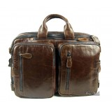 Leather briefcase messenger bag, leather 14 laptop backpack