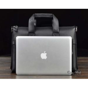 Cowhide laptop bag