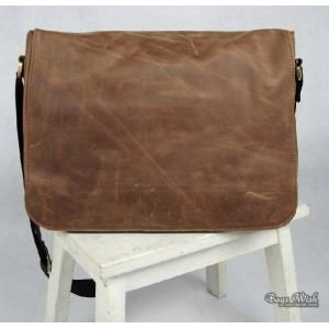 leather flap over briefcase