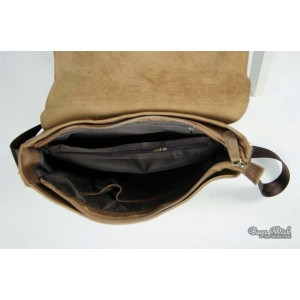 coffee Leather messenger bags men