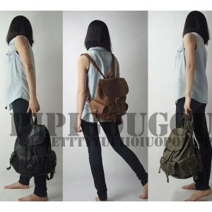 womens Vintage leather backpack
