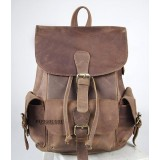 Vintage leather backpack, womens leather backpack