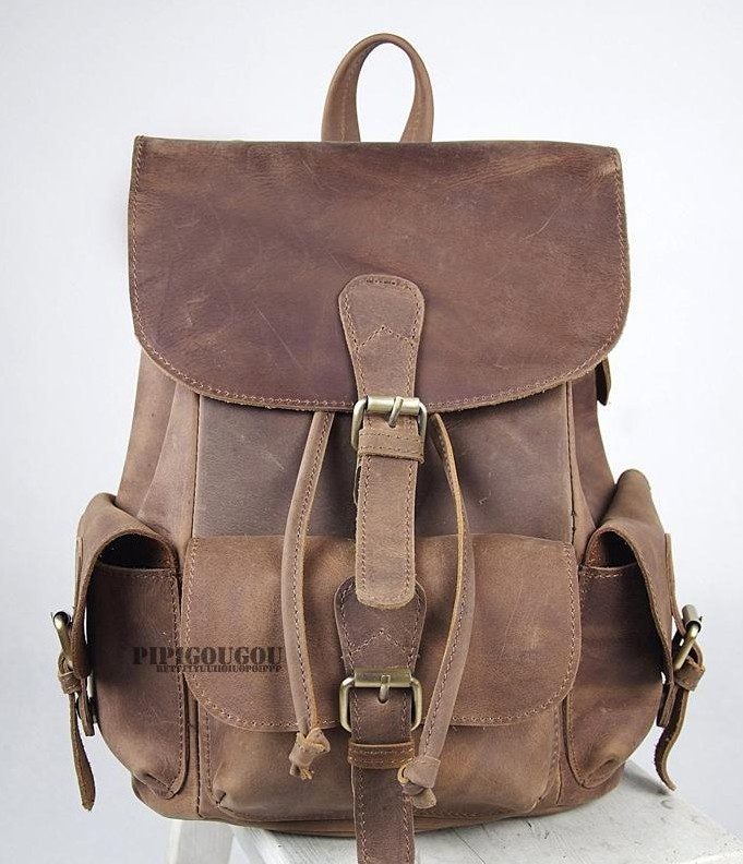 coffee womens leather backpack ... 177516ce55c1a