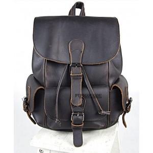 black Vintage leather backpack