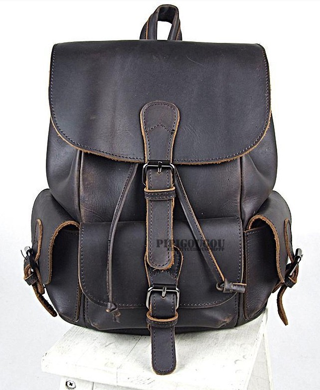 Vintage leather backpack, womens leather backpack - BagsWish