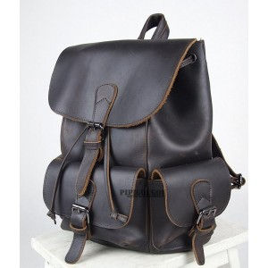black womens leather backpack