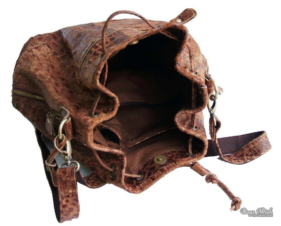 Modalu Brown Leather Shoulder Bag 10