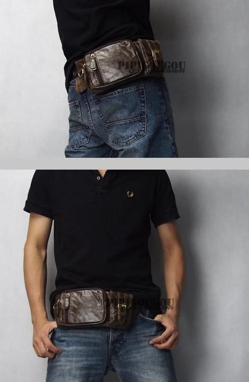 Waist belt bag, leather waist hip bag