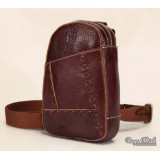 leather One strap back pack