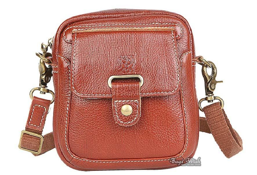 Ladies leather bag, brown ladies leather messenger bag - BagsWish