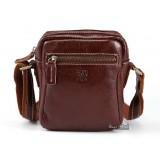Leather bag messenger, leather brown bag