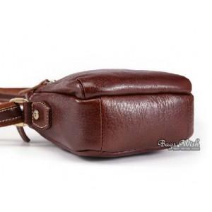 cowhide leather brown bag