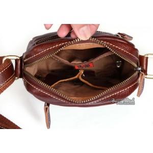 brown Leather bag messenger