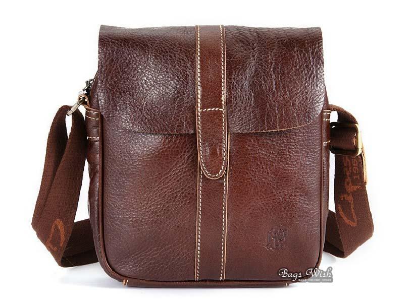 Leather bags men, leather mens messenger bag - BagsWish
